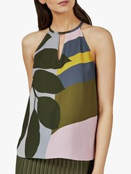 Ted Baker Toddle Halter Neck Top Green Khaki