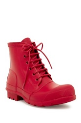 Hunter Original Rubber Lace Up Boot Red