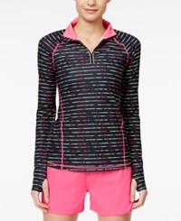 Ideology Printed Quarter Zip Top Only At Macy's