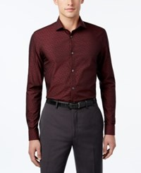 Calvin Klein Men's Floral Shirt Real Red