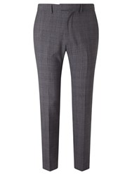 John Lewis Kin By Jude Check Tailored Suit Trousers Grey