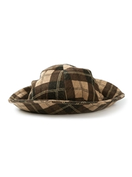 Biba Vintage Checked Brim Hat Brown