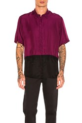 Robert Geller Two Toned Taped Shirt Purple