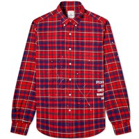 Uniform Experiment Flannel Check Drip Shirt Red