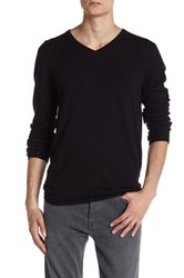 Zadig And Voltaire Peter Genuine Leather Patch Pullover Black