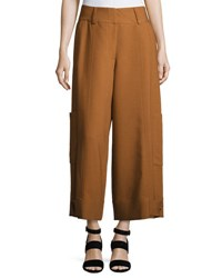 See By Chloe High Waist Wide Leg Cargo Trousers Light Brown