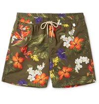 Polo Ralph Lauren Mid Length Printed Swim Shorts Green