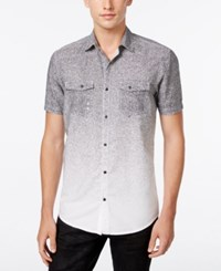 Inc International Concepts Men's Colton Ombre Shirt Only At Macy's Deep Black