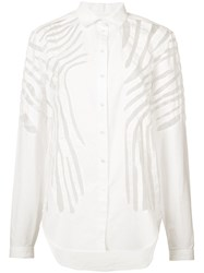 Maiyet Line Detail Blouse Women Cotton Silk Organza 00 White