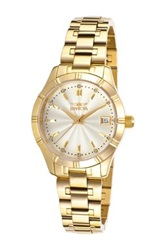 Invicta Women's Specialty 18K Gold Plated Stainless Steel Watch Metallic