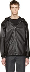 Loewe Reversible Black Lambskin Hooded Jacket
