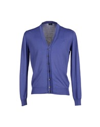 Trussardi Jeans Knitwear Cardigans Men Dark Purple