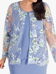 Chesca Bluebell Floral Jacket Bluebell