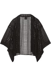 Anna Sui Embroidered Tulle And Broderie Anglaise Kimono Jacket Black