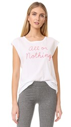 Sundry All Or Nothing Muscle Tank White