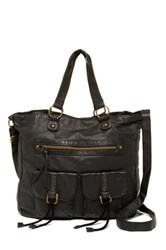 T Shirt And Jeans Double Pocketed Tote Black