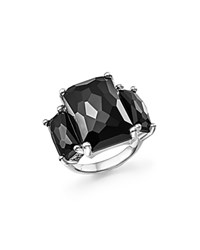Ippolita Sterling Silver Rock Candy 3 Stone Ring In Black Onyx Black Silver