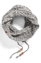 Bickley Mitchell Cable Knit Drawstring Snood Grey Twist