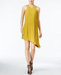 Rachel Roy Asymmetrical Shift Dress Only At Macy's Chartreuse