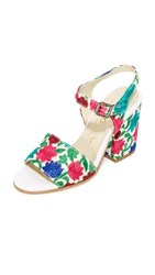 Ouigal Lexi Sandals White Floral