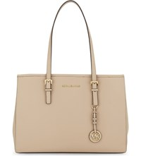 Michael Michael Kors Jet Set Travel Large Leather Tote Oyster