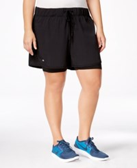 Ideology Plus Size 2 In 1 Shorts Only At Macy's Noir