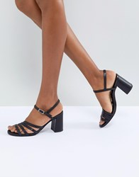 dd2d13ad188 Vagabond Cherie Strappy Leather Heeled Sandals Black