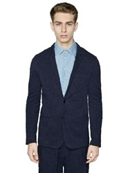 Emporio Armani Wrinkled Effect Cotton Jersey Jacket