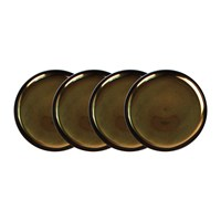 Canvas Home Dauville Charcoal Coasters Set Of 4 Gold