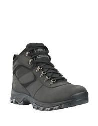 Timberland Mt. Maddsen Leather Mid Top Waterproof Boots Black