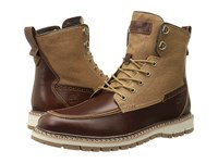 Timberland Britton Hill Boot Medium Brown Full Grain Wax Canvas Men's Lace Up Boots