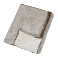 Helen Moore Faux Fur Throw 180X145cm Latte
