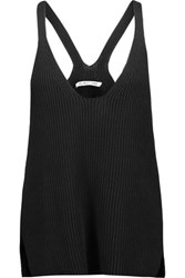 Helmut Lang Ribbed Cotton Tank Black