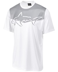 Greg Norman For Tasso Elba Men's Graphic Print Performance Sun Protection T Shirt Bright White