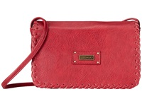 Roxy Lazer Crossbody Red Plum Shoulder Handbags
