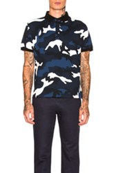 Valentino Polo In Abstract Black Blue Abstract Black Blue
