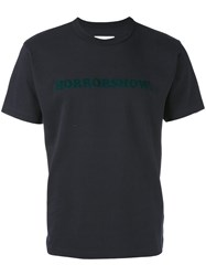 Sacai Horrorshow T Shirt Men Cotton 2 Blue