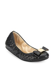Cole Haan Tali Bow Quilted Bow Ballet Flats Black