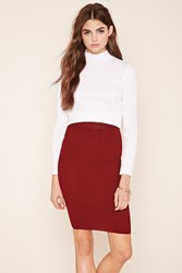 Forever 21 Ribbed Knit Midi Skirt