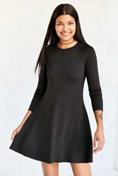Bdg Outfield Long Sleeve Sweatshirt Mini Dress Black