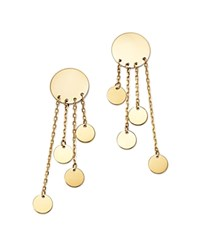 Moon And Meadow Graduated Multi Disc Drop Earrings In 14K Yellow Gold 100 Exclusive