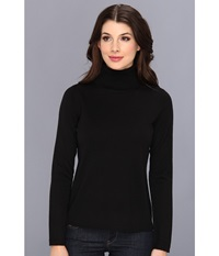 Pendleton Classic Turtleneck Sweater Black Women's Long Sleeve Pullover