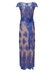 Phase Eight Antonia Lace Full Length Dress Purple