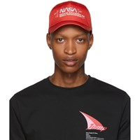 Heron Preston Red Embroidered Logo Cap