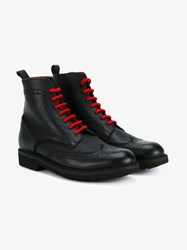 Givenchy Leather Ankle Boots Black Red Grey Denim
