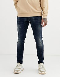 G Star Skinny Fit Jeans In Mid Wash Blue