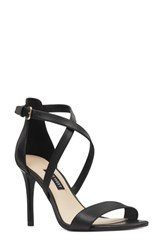 Nine West My Debut Strappy Sandal Black Leather