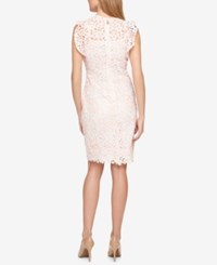 Tommy Hilfiger Lace Flutter Sleeve Dress Only At Macy's Seashell