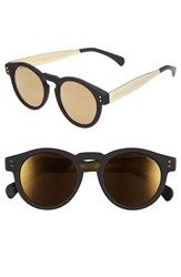 Men's Komono 'Clement' 48Mm Retro Sunglasses Black Gold Gold Mirror