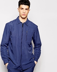 Libertine Libertine Libertine Libertine Shirt Jacket With Zip Front Blue